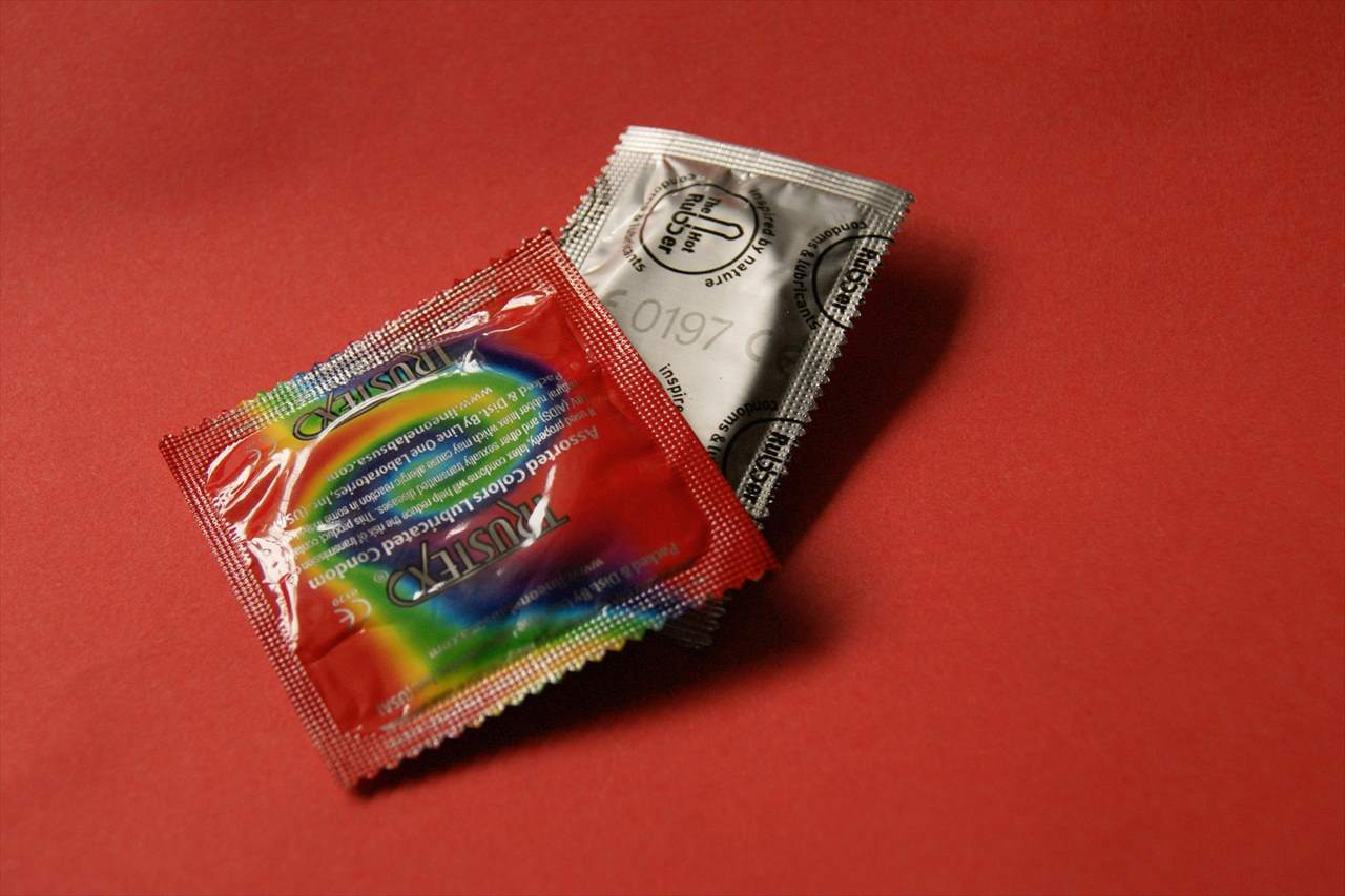 HIVの危険性を知らせる写真