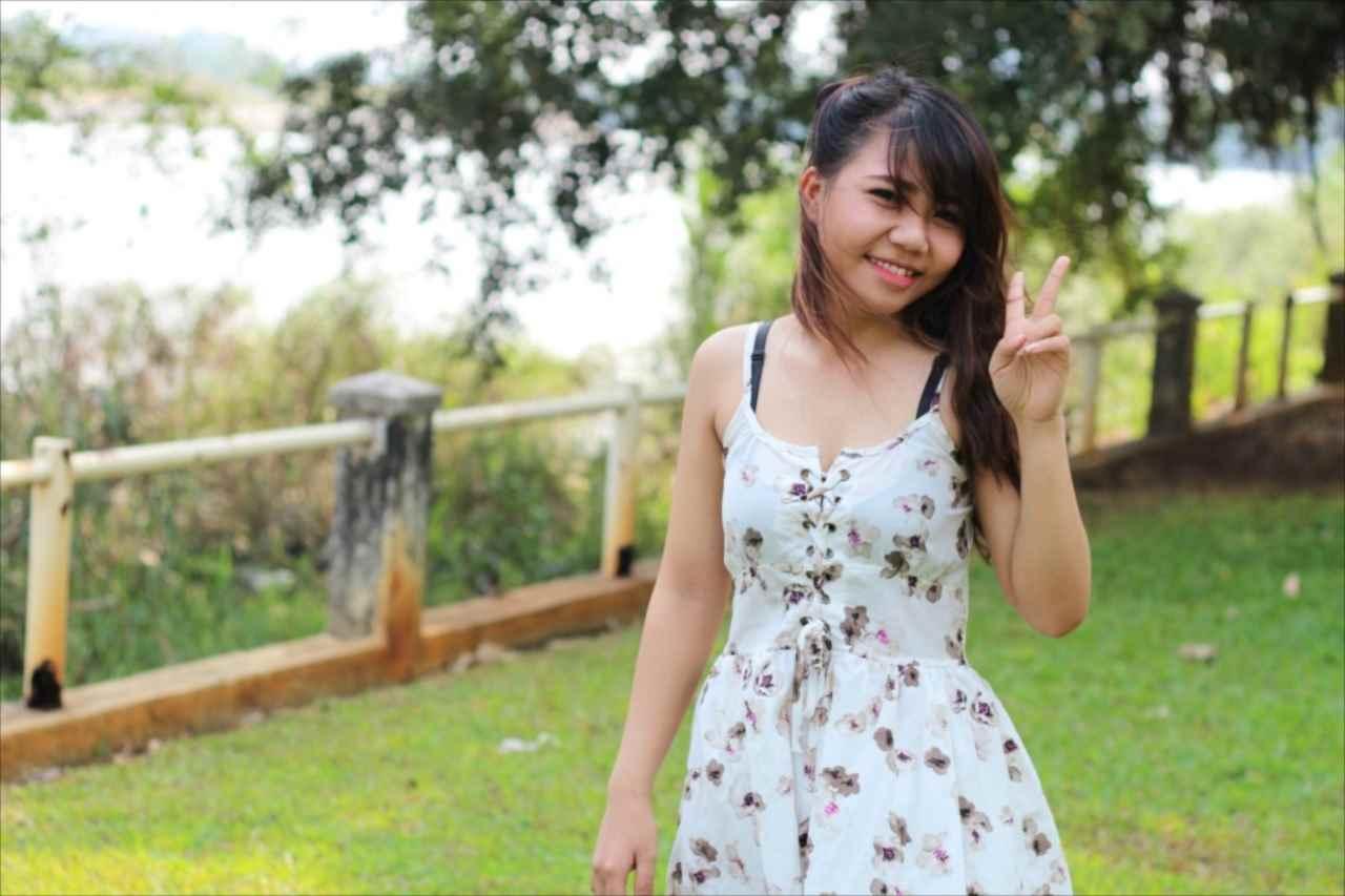 元気がうりのベトナム人女性